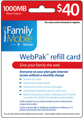Free Family Mobile WebPak Codes